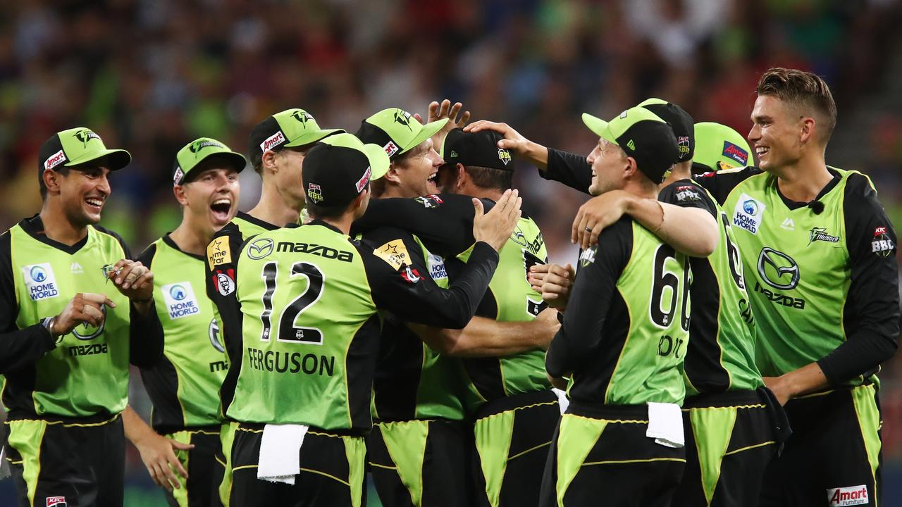 The Sydney Thunder are a relieved team after holding on to beat Perth Scorchers by one-run.