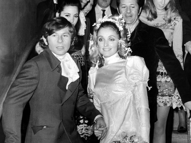 Sharon Tate and Roman Polanksi after their wedding in January 1968.