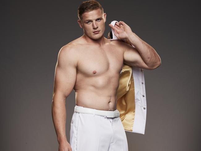 George Burgess in The All Full Monty. Picture: Channel 7