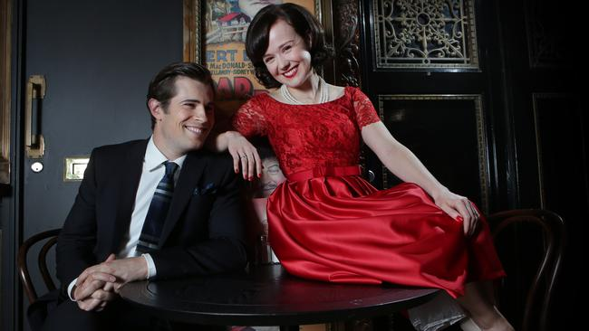 Dynamic duo ... David Berry and Arianwen Parkes-Lockwood, who plays his on-screen wife Olivia Bligh. Picture: Chris Pavlich
