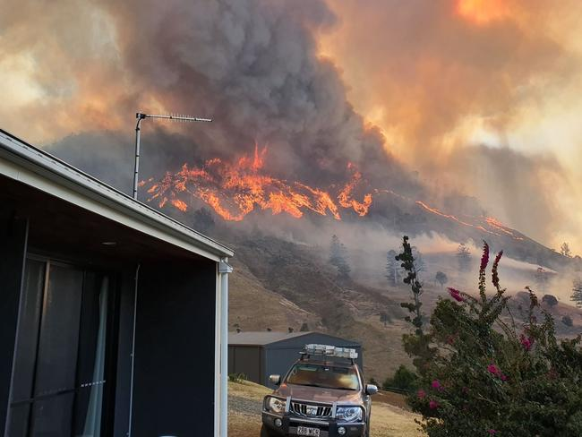 Homes in Queensland have been completely destroyed in the wild bushfires. Picture: Supplied