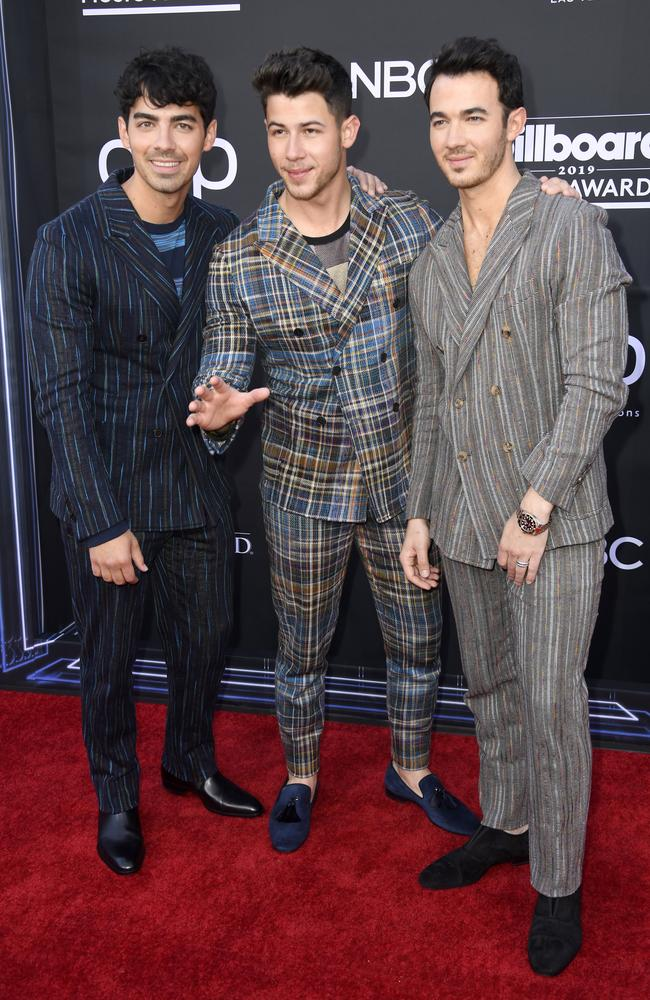 Joe Jonas, Nick Jonas, and Kevin Jonas of Jonas Brothers. Picture: Getty