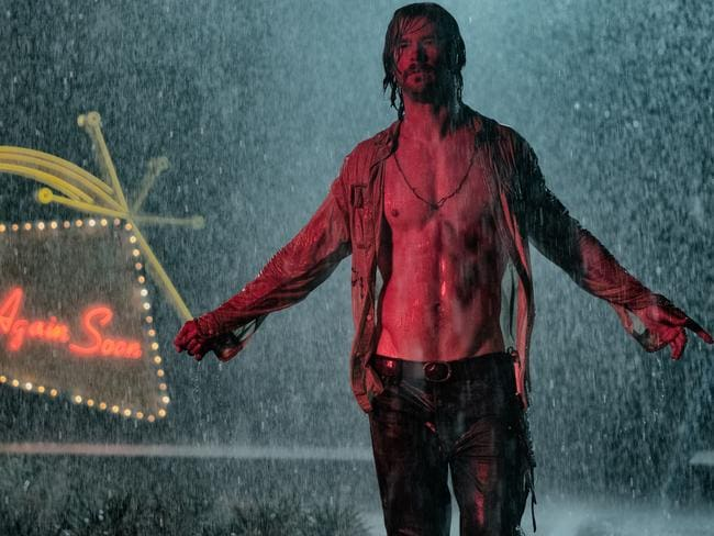 Chris Hemsworth in a scene from Bad Times at the El Royale.