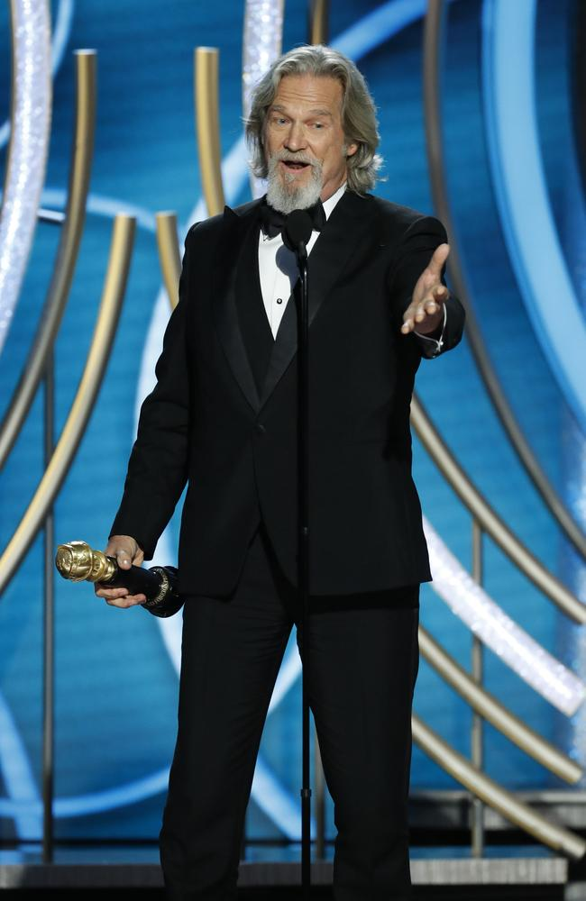 Jeff Bridges was given the Cecil B. Demille Award at the 76th Annual Golden Globes. Picture: Getty Images