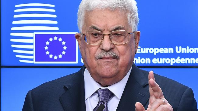 """Mahmoud Abbas said the United States had taken itself """"off the table"""" as a peace mediator. Source: AFP."""