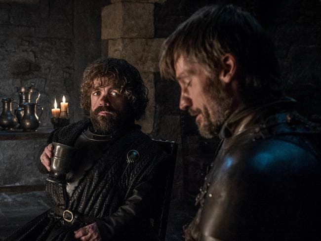 Peter Dinklage as Tyrion Lannister and Nikolaj Coster-Waldau as Jaime Lannister in Game of Thrones. Picture: HBO