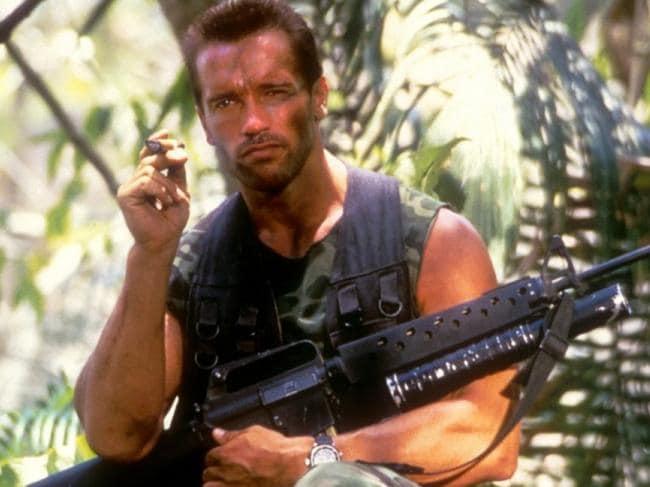 Arnold Schwarzenegger in Predator. Picture: Supplied