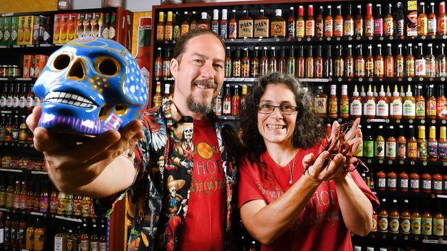 Reigning Best Independent Retailer winners, Chile Mojo owners Morgan Britt and Joel Adams. Image: AAP/Mark Brake