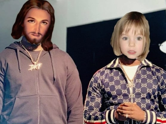The most recent picture depicted Maddie alongside Jesus. Picture: Instagram