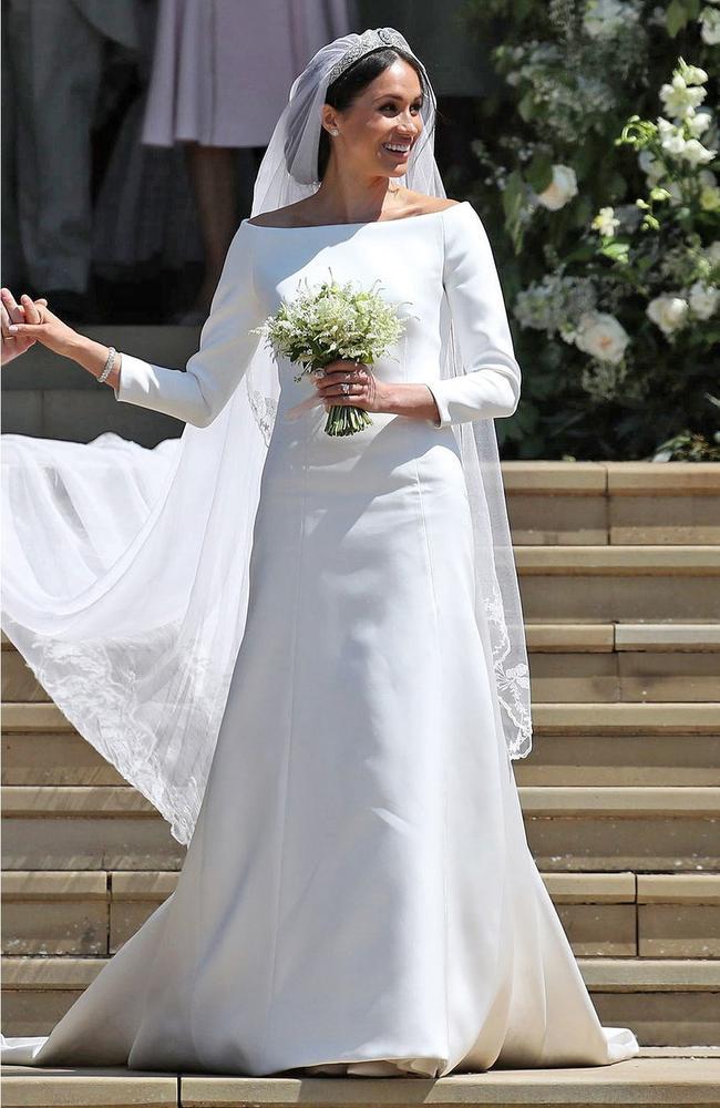 New Zealand designer Emilia Wickstead was critical of Meghan's wedding day look. Picture: REX/Shutterstock