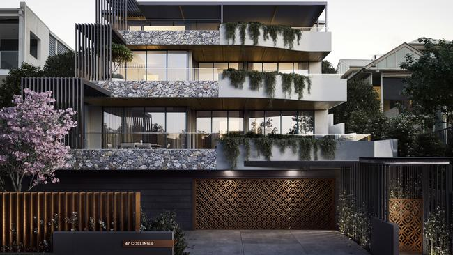 Zac Krstev and his business parter David Liekari have swapped building luxury homes to develop this three apartment complex in Balmoral.