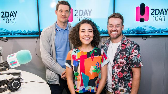 The 2Day FM breakfast show stars Ed Kavalee, Ash London and Grant Denyer.