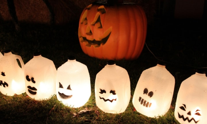How to make spooky milk carton lanterns
