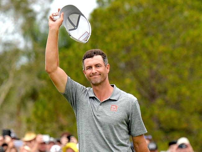 Adam Scott moves up to 13th of the world rankings after Sunday's win.