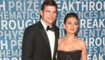 Ashton and Mila loved-up on the red carpet. Picture: Jesse Grant/Getty ImagesSource:Getty Images