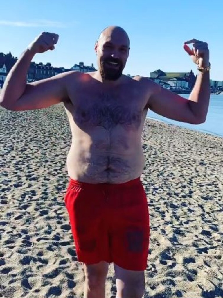 Tyson Fury recently caused a stir when he posted a video at the beach.
