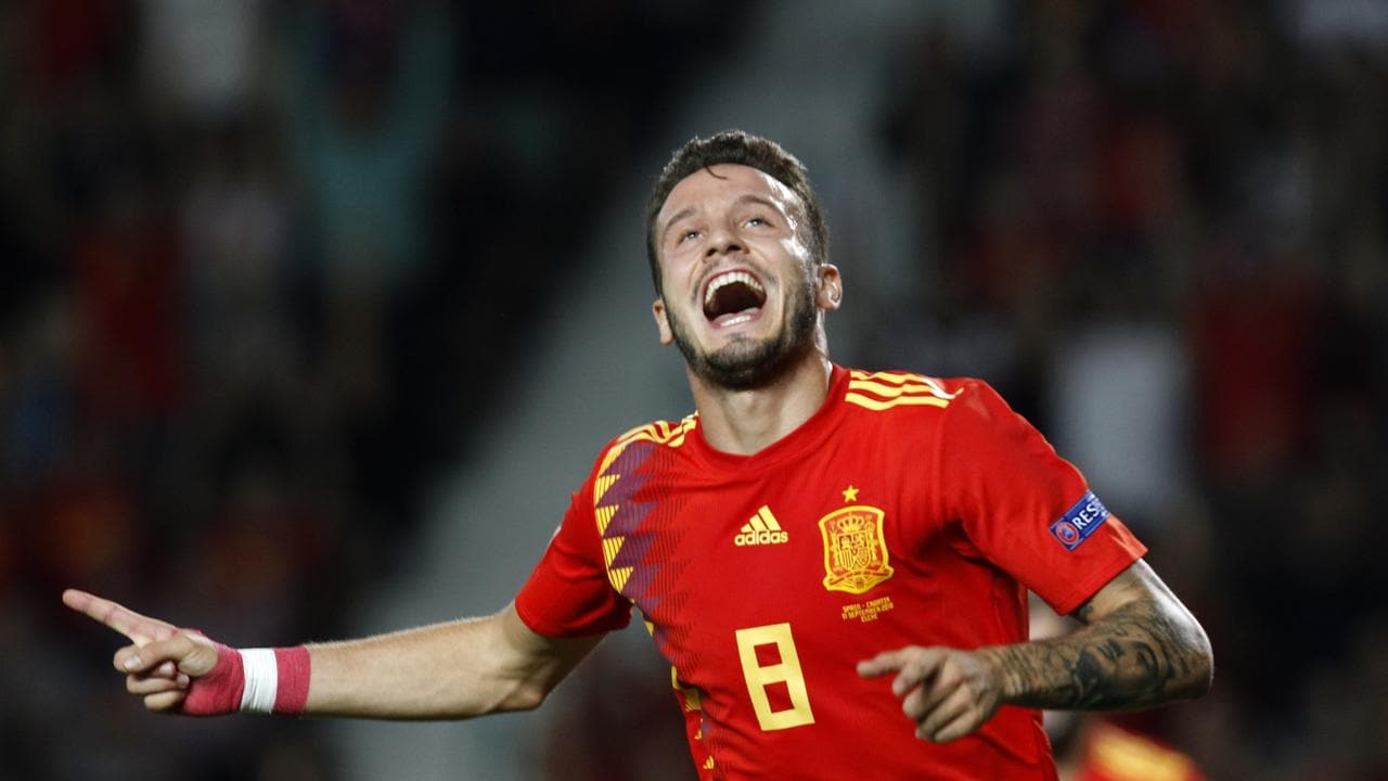 Saul Niguez recently scored for Spain in their 6-0 win over Croatia.