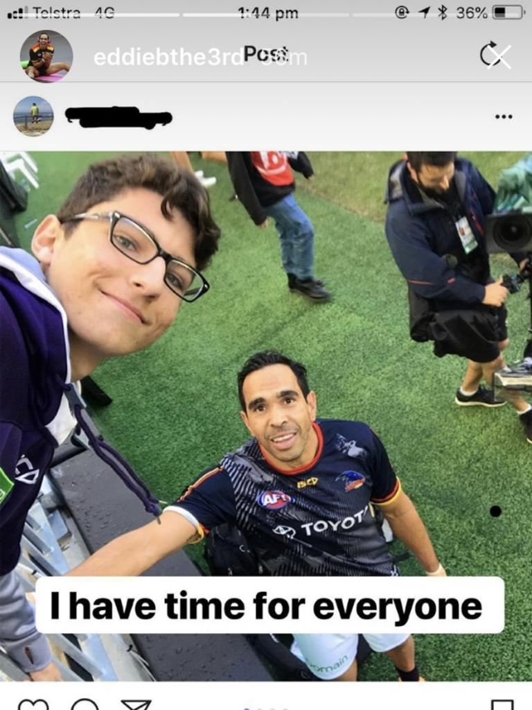 Online racist comments towards Adelaide Crows Eddie Betts .