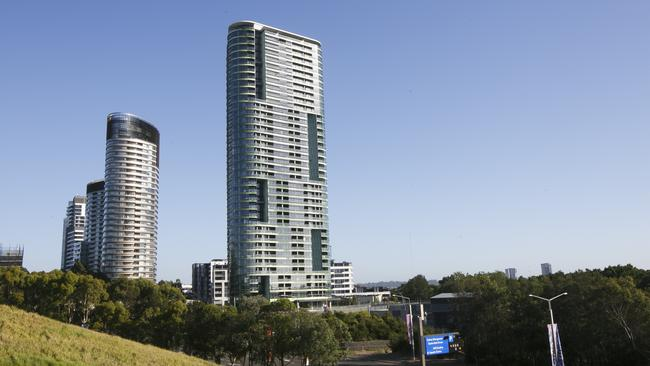 Opal Tower was expected to be a landmark building in the Sydney Olympic Park precinct. Picture: Tim Pascoe