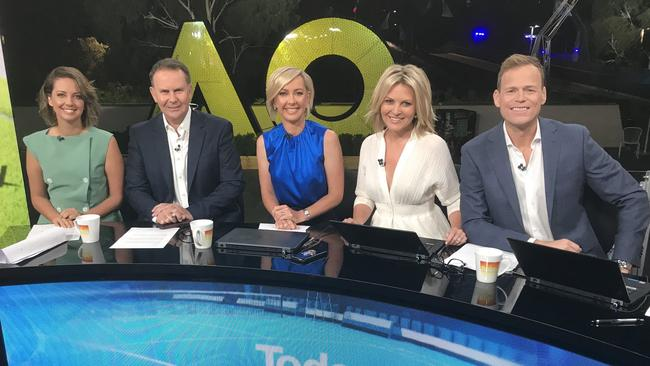 The new-look Today panel. Picture: Channel 9
