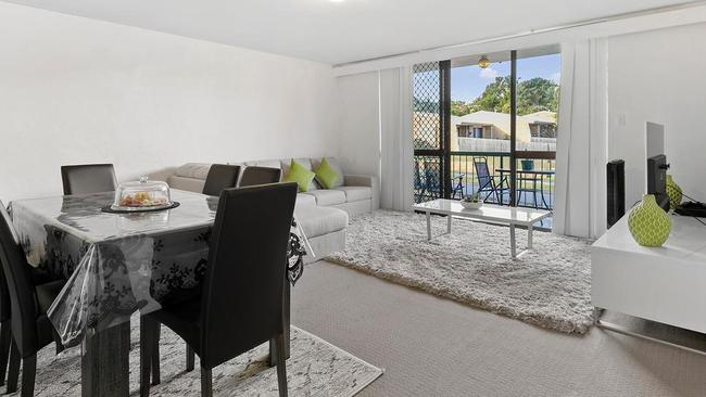 This two-bedroom unit at 3/31 Capparis St, Algester, is on the market for offers over $240,000.