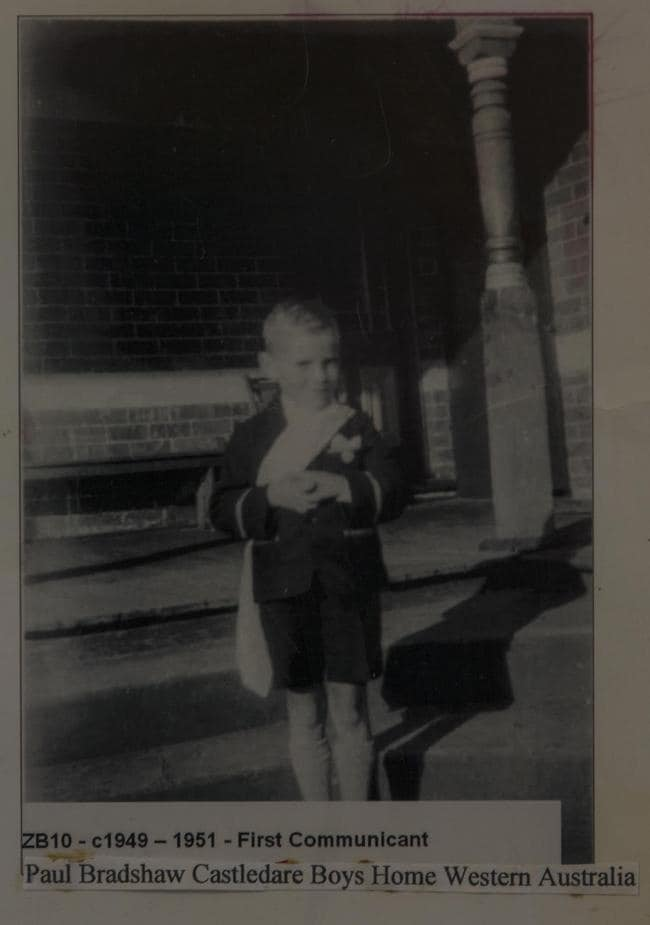 Paul Bradshaw as a young boy at Castledare Boys Home.