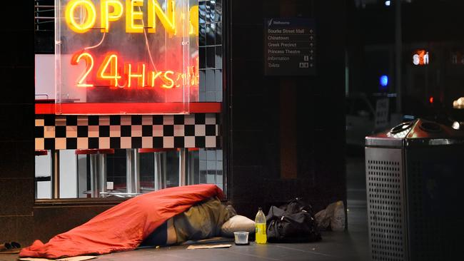 More than 300 people sleep on the streets of the City of Sydney LGA every night. Picture: Nicole Garmston
