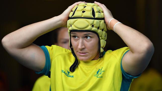 Australia's Shannon Parry said miscommunication was no excuse for the loss. Picture: Getty