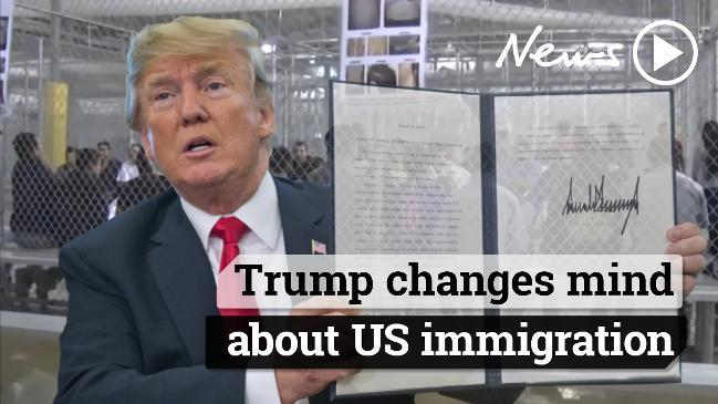 Trump changes his mind on US immigration