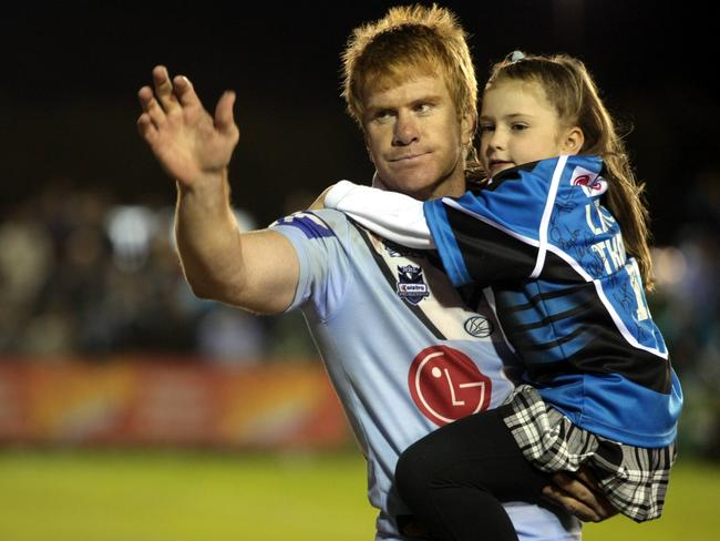 Thompson waved goodbye to a legion of adoring fans when he quit rugby league.
