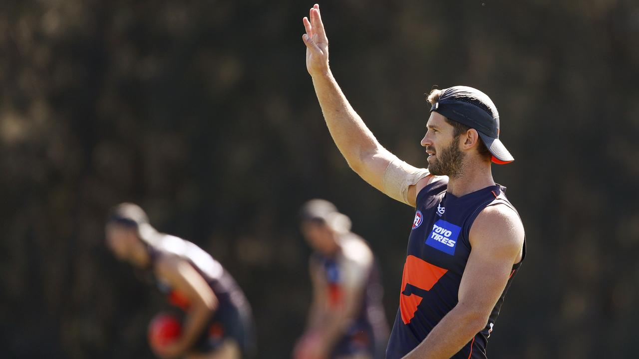 Greater Western Sydney has sent a creative text to its Canberra-based members to get them to the game against Fremantle on Saturday. (AAP Image/Daniel Munoz)