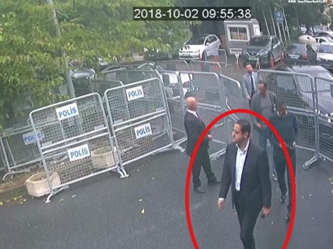 The man was captured on several CCTV cameras. Picture: Sabah/AP