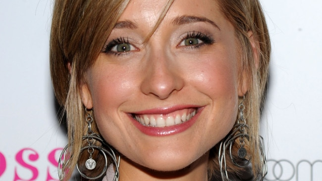 Allison Mack is accused of recruiting actresses to join the cult. (Photo by Bryan Bedder/Getty Images)