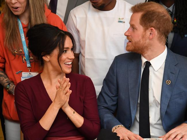 Meghan, Duchess of Sussex and Prince Harry, Duke of Sussex attend a roundtable discussion on gender equality on October 25, 2009. Picture: Getty Images