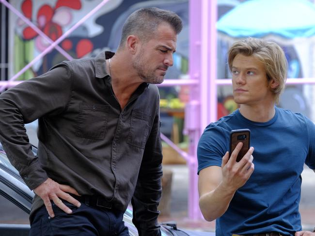 George Eads and Lucas Till in the remake of MacGyver. Picture: Supplied