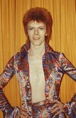 Rock and roll musician David Bowie poses for a portrait dressed as 'Ziggy Stardust' in a hotel room in 1973 in New York City, New York. Picture: Michael Ochs Archives/Getty Images