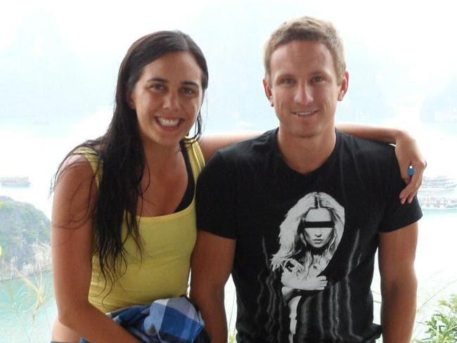 Turia Pitt with her boyfriend Michael Hoskin, before the bushfire.