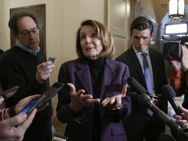 Speaker of the House Nancy Pelosi has rejected Mr Trump's proposal to fund a border wall between the US and Mexico. Picture: AP