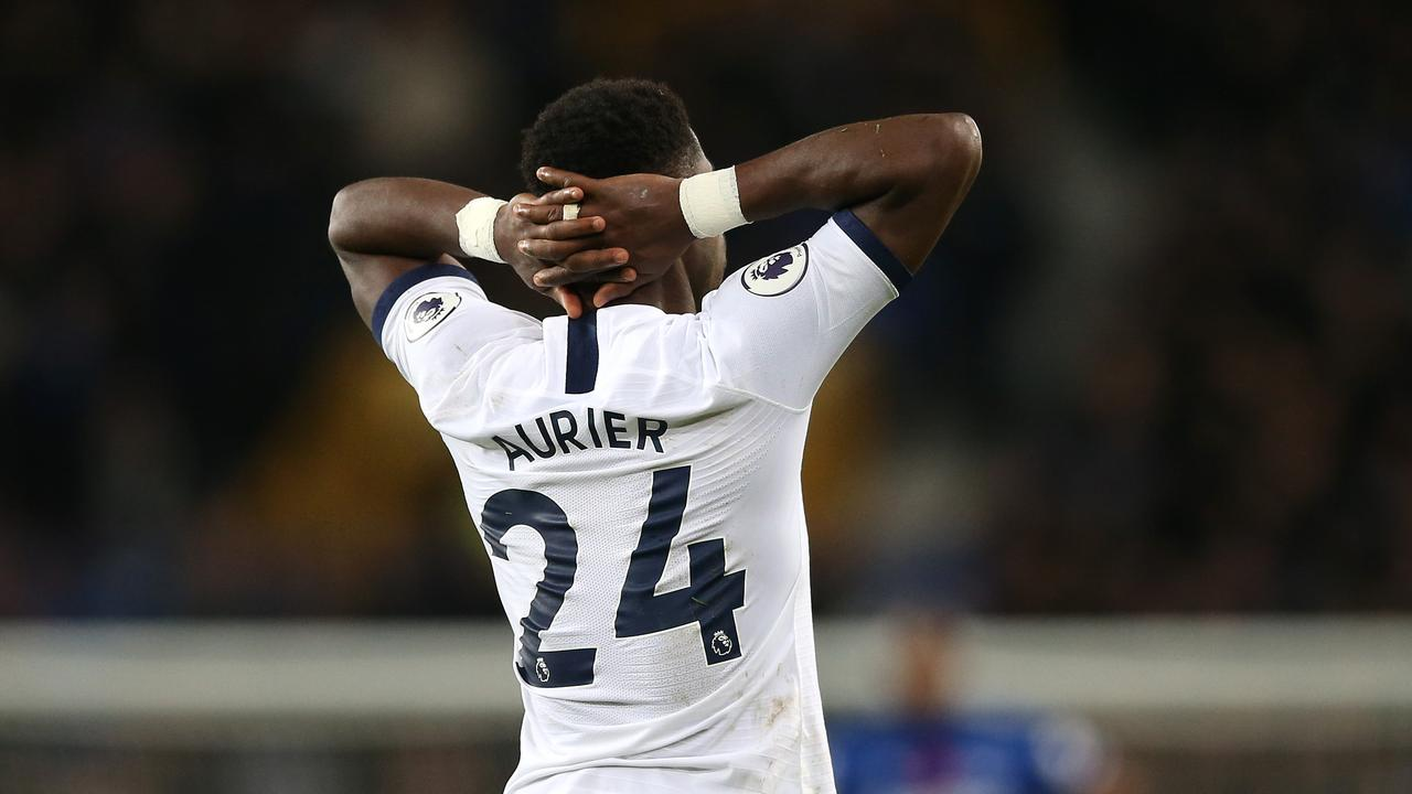Serge Aurier was spotted praying after the incident
