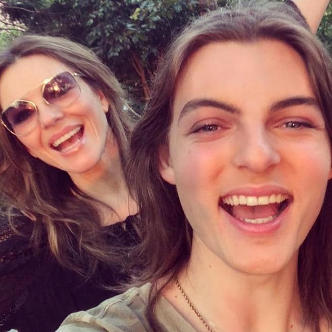 Damian Hurley and mum Liz on his 17th birthday. Picture: Instagram