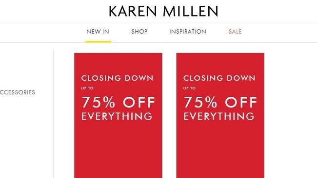 Karen Millen is closing down. Picture: Supplied