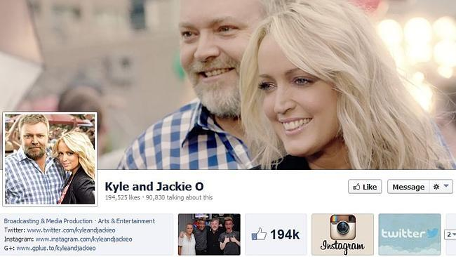 Kyle Sandilands and Jackie O in ongoing dispute with Southern Cross Austereo over rights to Facebook page
