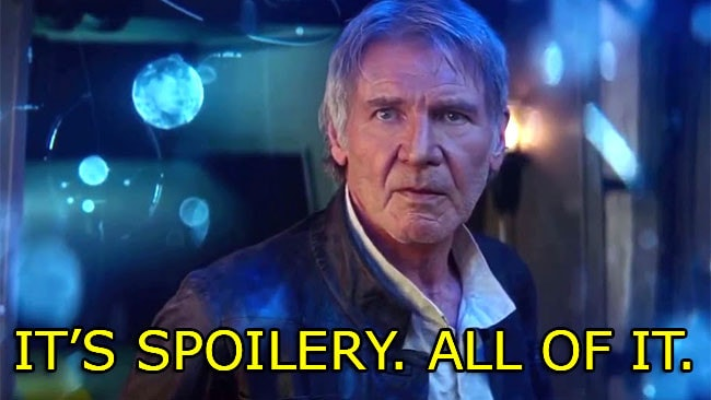 Spoilers. All the spoilers. I really can't put this any more clearly.