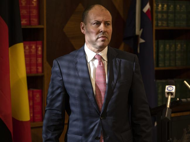 Treasurer Josh Frydenberg will leave after a talk with the media in Melbourne on Friday.  Image: Daniel Pockett / NCA NewsWire