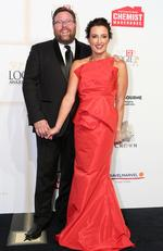 Shane and Felicity Jacobson arrive on the red carpet at the 59th annual TV Week Logie Awards on April 23, 2017 at the Crown Casino in Melbourne, Australia. Picture: Julie Kiriacoudis