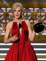 Nicole Kidman accepts Outstanding Lead Actress in a Limited Series or Movie for 'Big Little Lies' onstage during the 69th Annual Primetime Emmy Awards at Microsoft Theater on September 17, 2017 in Los Angeles, California. Picture: Getty