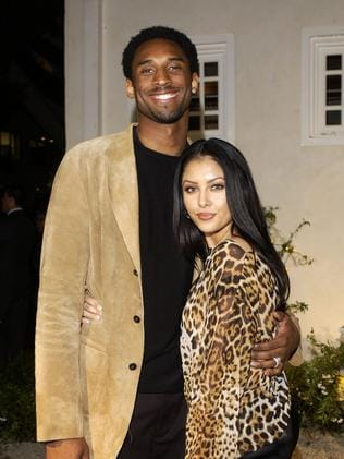 Kobe Bryant and wife Vanessa Bryant arrive at the grand opening of Jennifer Lopez's restaurant Madre's in Pasadena, California, April 12, 2002. (Photo by L. Cohen/WireImage)