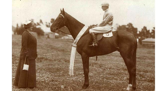 The property was home to Edith Widdis and her Melbourne Cup-winning horse Patrobas. Picture: Victoria Racing Club