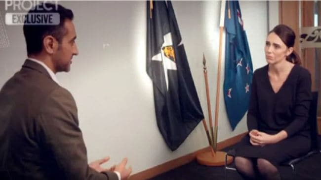 Ms Ardern's interview on tonight's episode of The Project. Image: Channel 10.