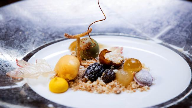 A Heston classic ... Billie McKay sealed the deal with her botrytis cinerea dessert.